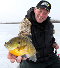 image of Jeff Sundin holding large bluegill