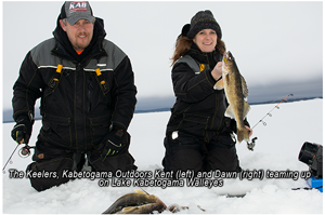 image of dawn and kent keeler with kabatogama walleyes
