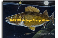 image of 2019 mn walleye stamp
