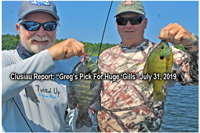 image of joel and greg clusiau with huge bluegills