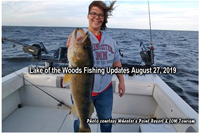 image of woman with huge walleye