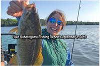 image of woman with big smallmouth