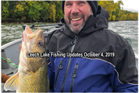 image of Randy Swenson with big leech lake walleye