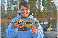 image of susan sundin with nice crappie