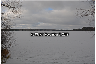 image of ice covered lake