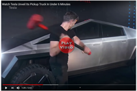 image links to tesla pickup truck video