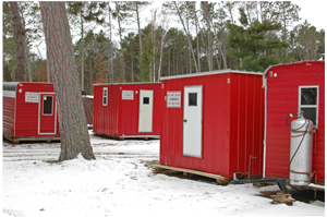 image of pines resort rental shelters