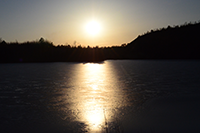 image of sunset over lake
