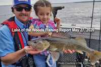 image of father and daughter with big walleye