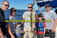Link to lake of the woods fishing reporrt