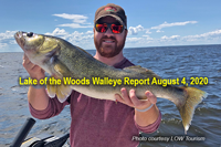 image lonks to lake of the woods walleye report