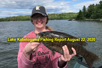 image links to Lake Kabetogama Fishing Report