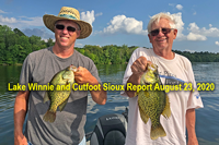 image links to cutfoot sioux and lake winnie fishing report