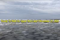 image of early ice on upper red lake