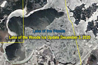 image links to lake of the woods ice fishing updates