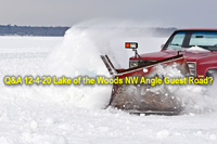 image links to article about lake of the woods northwest angle guest ice road