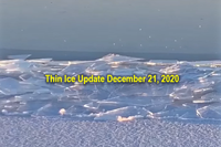 image of broken ice on Lake Mille Lacs