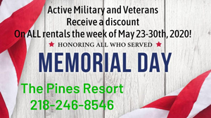 image links to pines resort memorial day special