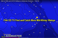 image links to Fish ED TV video about catching mid-winter walleye