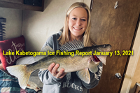 image links to lake kabetogama ice fishing report