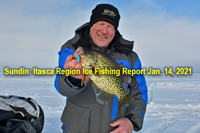 image of Jeff sundin with nice crappie caught on glow spoon