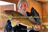 image links to lake of the woods walleye fishing report