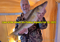 image links to lake of the woods ice fishing reports