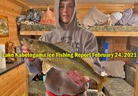 image links to lake kabetogama ice fishing report
