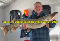 image of angler with big northern pike caught on lake of the woods