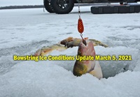 image links to bowstring Lake ice fishing report