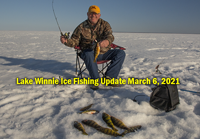 Image links to ice fishing report from Lake Winnie