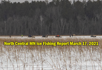 image links to Deer River area ice fishing report