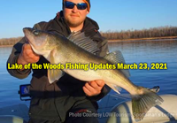 image links to lake of the woods and riny river fishing updates.