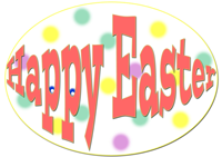 Image wishing everyone a Happy Easter Sunday