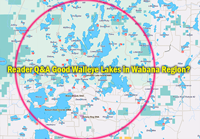 image links to reader question about fishing in the Wabana Lakes region