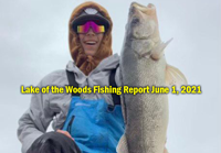 image of Houston, guide at Sportsmans Lodge with huge walleye links to fishing report
