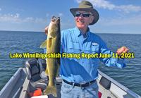 image of Jim Miller holding nice lake winnie walleye
