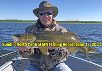 image links to north central minnesota walleye fishing report