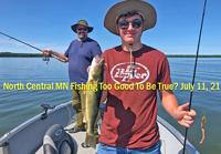 image of Adam Kleymann with nice walleye