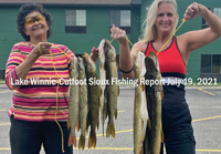 image links to lake winnie and cutfoot sioux fishing report