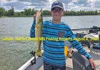 Blaine Cheatham shows off nice walleye