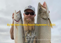 image links to lake trout report from the Ely Area