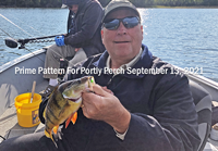 image of Paul Kautza with huge perch caught on a jig and minnow