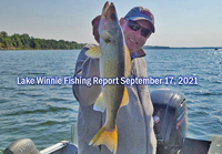 image links to fishing report from Lake Winnie
