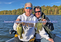 image of Kyle and Karen Reynolds links to crappie fishing report