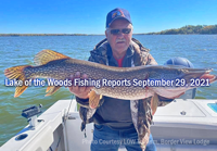 image of big pike caught on lake of the woods