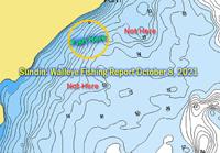 image of lake winnie walleye location map