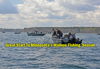 image links to lake winnie opening day walleye report