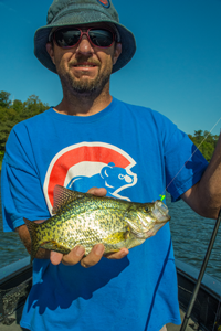 image of Joe with nice Crappie