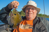 image of Mike Nolan with big bluegill